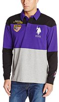 U.S. Polo Assn. Men's Jersey Color Block Rugby Polo Shirt
