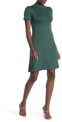 Velvet Torch Mock Neck Short Sleeve Jersey Dress
