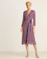 Atos Lombardini Tie Up Kimono Midi Dress