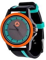 Airwalk Automatic Metal and Silicone Casual Watch, Color:Black (Model: AWW-5099-GR)