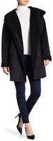 Rachel Roy Faux Shearling Collar Coat