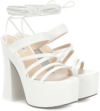 ATTICO Plateau leather sandals