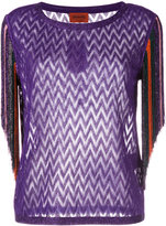 Missoni fringed trim top - women - Polyester/Cupro/Rayon - 38
