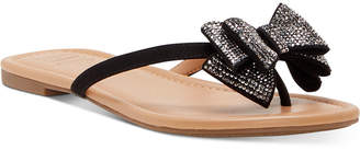 INC International Concepts Inc Women Mabae Bow Flat Sandals, Women Shoes