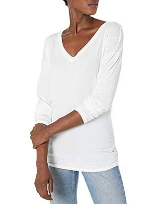 Michael Stars Women's Carson V Neck with Shirred Sides