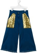 Une Fille - sequin pocket jeans - kids - Cotton/Spandex/Elastane/Viscose - 14 yrs