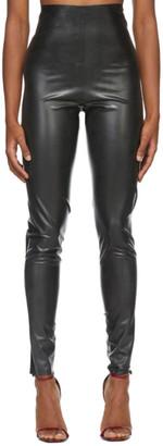 Saint Laurent Black Latex Leggings