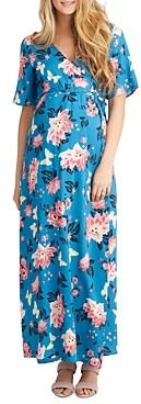 Nom Maternity Landon Floral Print Maxi Nursing Dress