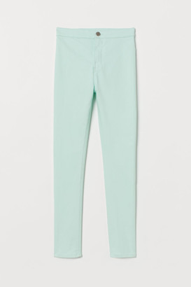 H&M Twill trousers High Waist