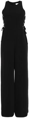 Zimmermann Lace-up Embellished Stretch-crepe Jumpsuit