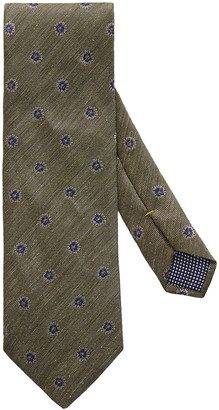 Eton Silk/Linen Medallion Tie