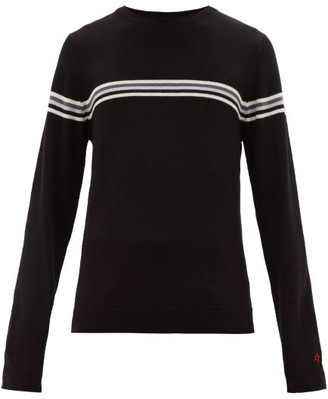 Perfect Moment Orelle Stripe-intarsia Wool Sweater - Mens - Black