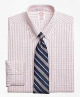 Brooks Brothers Non-Iron Madison Fit Micro-Tattersall Dress Shirt