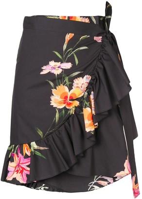 Etro Floral Print Wrap Skirt