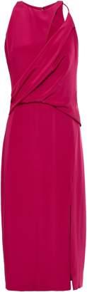 Cushnie Cutout Draped Silk-crepe Dress