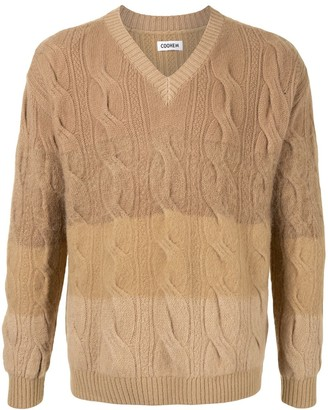Coohem Cable-Knit V-Neck Jumper
