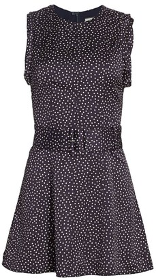 Alexis Dutsa Polka Dot Belted Mini Dress