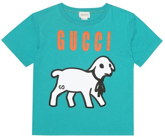 Gucci Kids Lamb-print cotton-jersey T-shirt