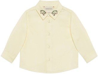 Gucci Baby cotton shirt with horses embroidery