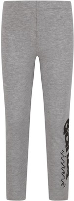 Dimensione Danza Grey Girl Leggings With Black Logo