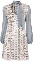 Bell Sleeve Mini Dress Prairie Check