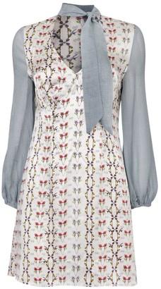 Jessica Russell Flint Bell Sleeve Mini Dress Prairie Check