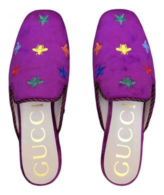 Gucci Purple Velvet Flats