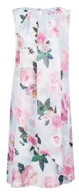 Dorothy Perkins Womens **Billie & Blossom Tall Grey Floral Print Trapeze Dress, Grey