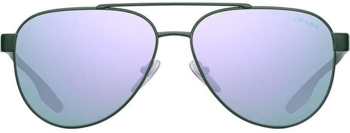 a8d128136dd10 Prada Green Men s Sunglasses - ShopStyle