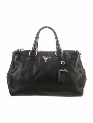 Prada Vitello Shine Shoulder Bag Black