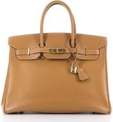Hermes Gold Vasche Natural Birkin 35cm Bag