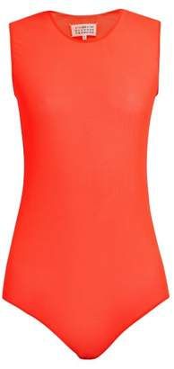 Maison Margiela Mesh Bodysuit - Womens - Orange