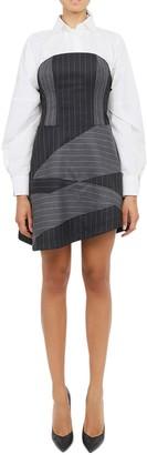 Vìen Vien Pinstriped Bustier Dress