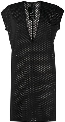 Rick Owens longline mesh T-shirt