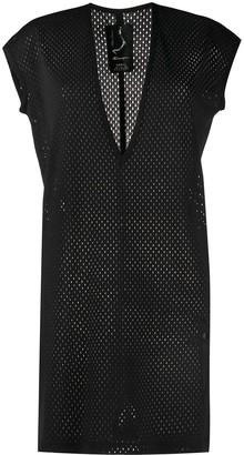 Rick Owens X Champion longline mesh T-shirt