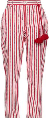 Figue Zuri Cropped Printed Cotton-poplin Straight-leg Pants