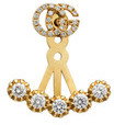 Gucci Single Double G earring with diamonds