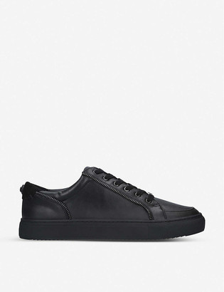Kurt Geiger Southgate zip-trim faux-leather trainers