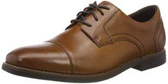 Rockport Men's Slayter Cap Blucher Derbys, Brown (Cognac 002), (44 EU)