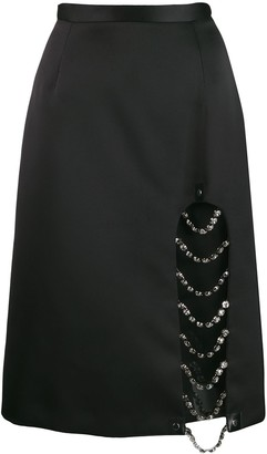 Christopher Kane Crystal Split Skirt