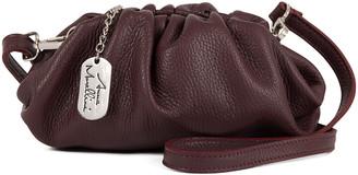 Anna Morellini Women's Crossbodies WINE - Wine Drusilla Leather Crossbody Bag