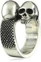 """King Baby Studio Skull"""" Men's Double Skull Ring"""