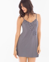 Soma Intimates Floral Lace Sleep Chemise Excalibur Grey