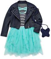 Knitworks Knit Works Short Sleeve Drop Waist Dress - Toddler Girls