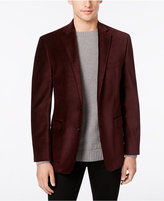 Calvin Klein Men's Burgundy Velvet Slim-Fit Dinner Jacket