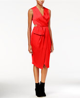 Rachel Roy Cutout Faux-Wrap Dress, Only at Macy's