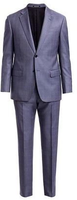 Emporio Armani Plaid Wool Suit