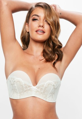 Missguided Wonderbra Ivory Ultimate Lace Strapless Bra