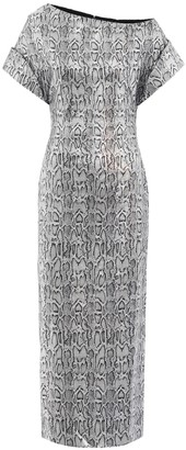 Christopher Kane Sequined snake-print maxi dress
