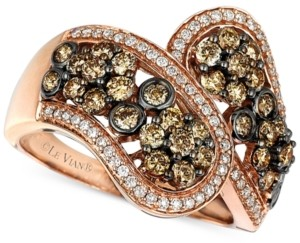 LeVian Le Vian Chocolatier Diamond Pave Statement Ring (1-3/8 ct. t.w.) in 14k Rose Gold